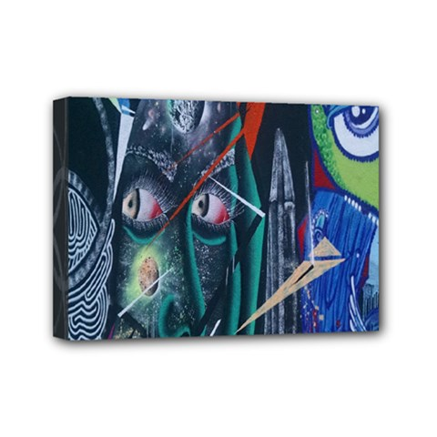 Graffiti Art Urban Design Paint  Mini Canvas 7  x 5