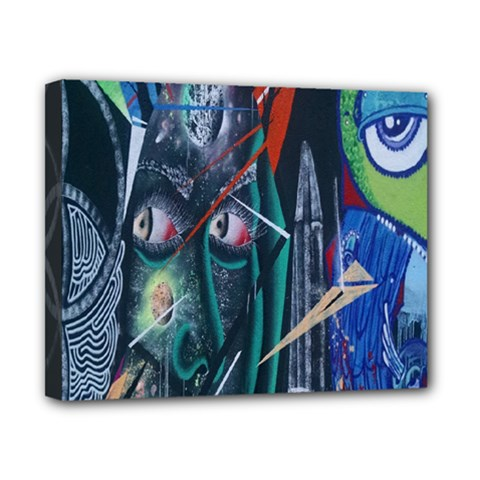 Graffiti Art Urban Design Paint  Canvas 10  x 8