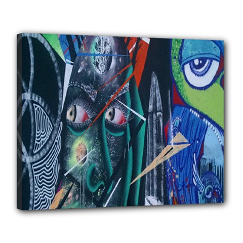 Graffiti Art Urban Design Paint  Canvas 20  x 16
