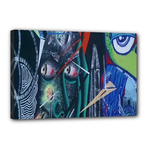 Graffiti Art Urban Design Paint  Canvas 18  x 12