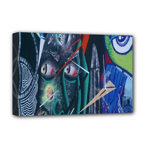 Graffiti Art Urban Design Paint  Deluxe Canvas 18  x 12