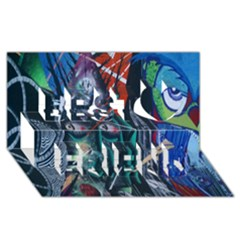 Graffiti Art Urban Design Paint  Best Friends 3D Greeting Card (8x4)