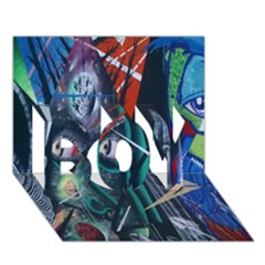 Graffiti Art Urban Design Paint  BOY 3D Greeting Card (7x5)