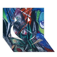 Graffiti Art Urban Design Paint  Heart 3D Greeting Card (7x5)