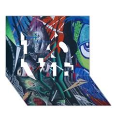 Graffiti Art Urban Design Paint  LOVE 3D Greeting Card (7x5)