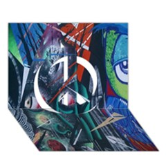 Graffiti Art Urban Design Paint  Peace Sign 3D Greeting Card (7x5)
