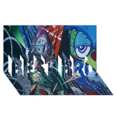 Graffiti Art Urban Design Paint  BEST BRO 3D Greeting Card (8x4)