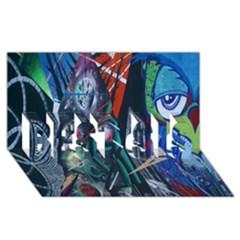 Graffiti Art Urban Design Paint  BEST SIS 3D Greeting Card (8x4)