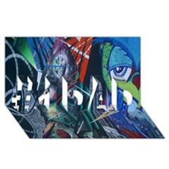 Graffiti Art Urban Design Paint  #1 DAD 3D Greeting Card (8x4)