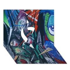 Graffiti Art Urban Design Paint  Ribbon 3D Greeting Card (7x5)