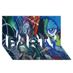 Graffiti Art Urban Design Paint  PARTY 3D Greeting Card (8x4)