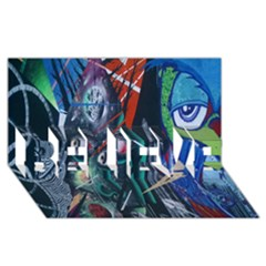 Graffiti Art Urban Design Paint  BELIEVE 3D Greeting Card (8x4)