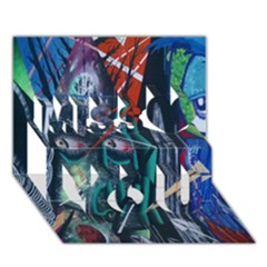Graffiti Art Urban Design Paint  Miss You 3D Greeting Card (7x5)