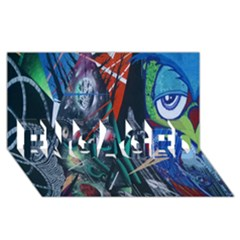 Graffiti Art Urban Design Paint  ENGAGED 3D Greeting Card (8x4)