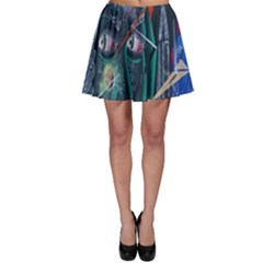 Graffiti Art Urban Design Paint  Skater Skirt