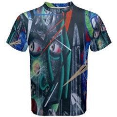 Graffiti Art Urban Design Paint  Men s Cotton Tee
