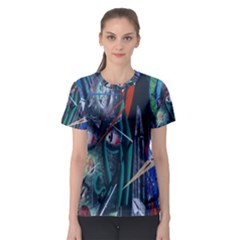 Graffiti Art Urban Design Paint  Women s Sport Mesh Tee