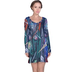 Graffiti Art Urban Design Paint  Long Sleeve Nightdress
