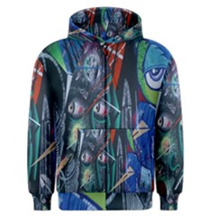Graffiti Art Urban Design Paint  Men s Zipper Hoodie