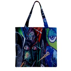 Graffiti Art Urban Design Paint  Zipper Grocery Tote Bag