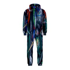Graffiti Art Urban Design Paint  Hooded Jumpsuit (Kids)
