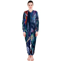 Graffiti Art Urban Design Paint  OnePiece Jumpsuit (Ladies)