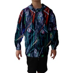 Graffiti Art Urban Design Paint  Hooded Wind Breaker (Kids)