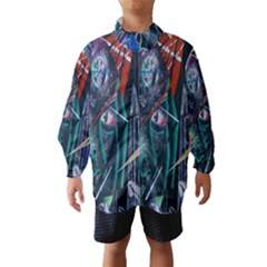 Graffiti Art Urban Design Paint  Wind Breaker (Kids)