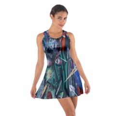 Graffiti Art Urban Design Paint  Cotton Racerback Dress