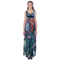 Graffiti Art Urban Design Paint  Empire Waist Maxi Dress