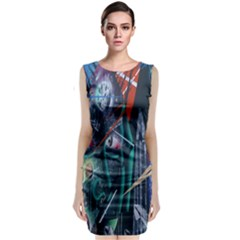 Graffiti Art Urban Design Paint  Classic Sleeveless Midi Dress