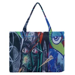 Graffiti Art Urban Design Paint  Medium Zipper Tote Bag