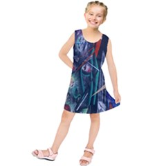 Graffiti Art Urban Design Paint  Kids  Tunic Dress