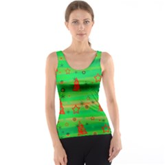 Green Xmas magic Tank Top