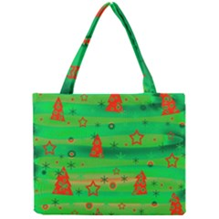 Green Xmas magic Mini Tote Bag