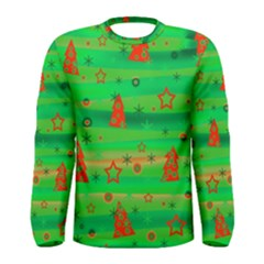 Green Xmas magic Men s Long Sleeve Tee