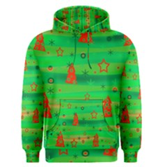 Green Xmas magic Men s Pullover Hoodie