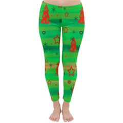 Green Xmas magic Classic Winter Leggings