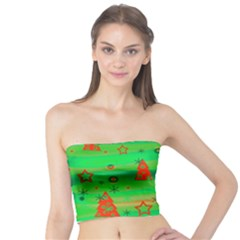 Green Xmas magic Tube Top