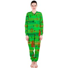 Green Xmas magic OnePiece Jumpsuit (Ladies)