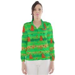 Green Xmas magic Wind Breaker (Women)
