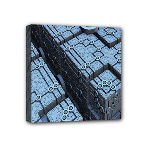 Grid Maths Geometry Design Pattern Mini Canvas 4  x 4