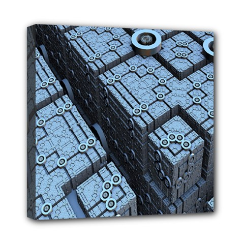 Grid Maths Geometry Design Pattern Mini Canvas 8  x 8