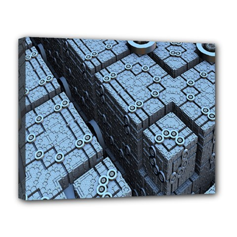 Grid Maths Geometry Design Pattern Canvas 14  x 11