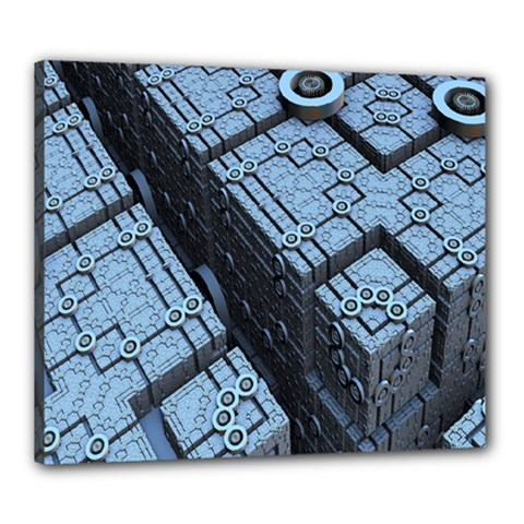 Grid Maths Geometry Design Pattern Canvas 24  x 20