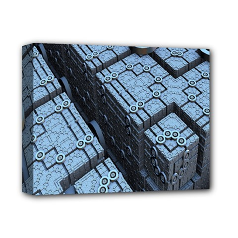 Grid Maths Geometry Design Pattern Deluxe Canvas 14  x 11