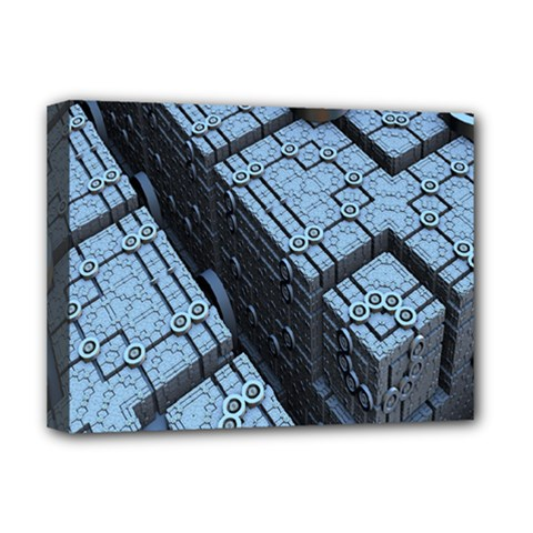 Grid Maths Geometry Design Pattern Deluxe Canvas 16  x 12