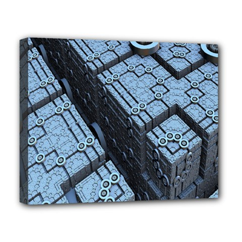 Grid Maths Geometry Design Pattern Deluxe Canvas 20  x 16
