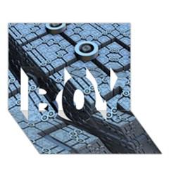 Grid Maths Geometry Design Pattern BOY 3D Greeting Card (7x5)