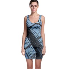 Grid Maths Geometry Design Pattern Sleeveless Bodycon Dress